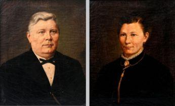 Jäger, L., paar Porträts / Portraits