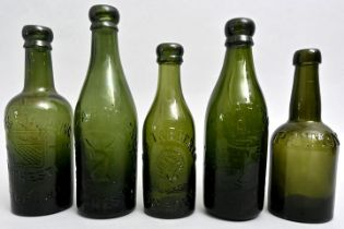 Konvolut fünf Bierflaschen/ Set of beer bottles