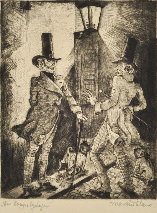 Claus, M. ''Der Doppelgänger'', Radierung / Claus, M. ''The Double'', Etching