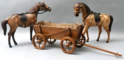 2 Pferde und 1 Wagen / toy carriage