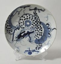 China. Tellerchen Bleu Drachen / small plate