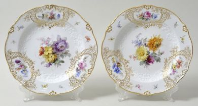 Paar Teller, Meissen / Two plates, Meissen