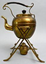 Teekessel mit Rechaud / kettle