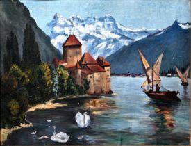 unbek. Gemälde, Schloß Chilon / painting