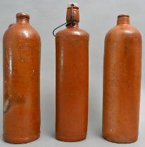 Drei Selterflaschen/Seltzer bottles
