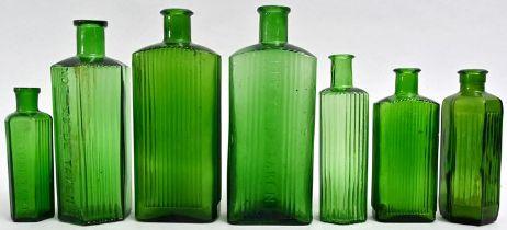 Konvolut von sieben Apothekerflaschen / set of seven Apothecary bottles