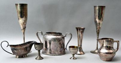 Teile Versilbertes / silver items