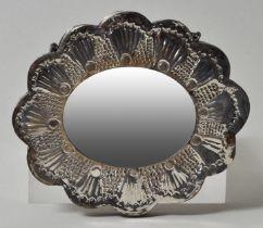 kl. Spiegel, Blütenform, Silber / small mirror