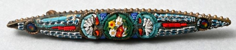 Brosche, Mikromosaik / brooch