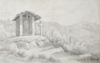 Hottenroth, Woldemar, Lavierte Zeichnung / Hottenroth, Woldemar, pencil drawing