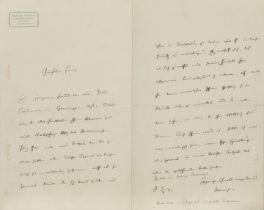handschrftl. Brief von Theodor Mommsen / Handwritten letters by Theodor Mommsen