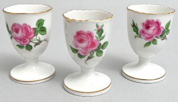 Eierbecher, Meissen, rote Rose/ egg cups