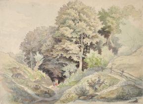 Leonhardi, Eduard, Aquarell / Leonhardi, Eduard, watercolour landscape