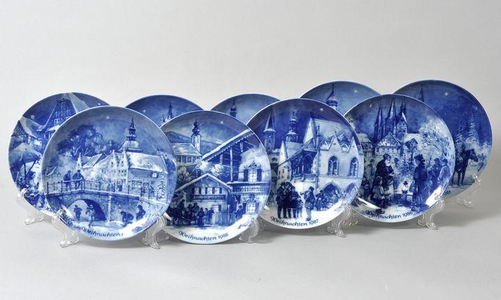 Neun Weihnachtsteller / Nine christmas plates