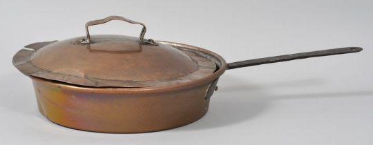 Kupferpfanne mit Deckel / pan with lid