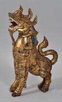 Holzfigur, Drache / figure dragon