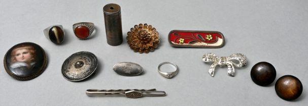 Konvolut Silberschmuck, 13 Teile / lot of silver items