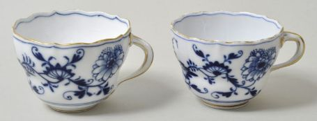 Tassen, Meissen, ZM / two cups