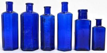 Konvolut von sechs Apothekerflaschen / Set of six apothecary bottles