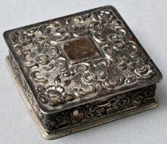 Pillendose, Silber / pillbox