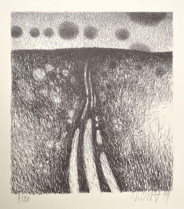 Juza, Werner, Lithographie / Juza, Werner, Lithograph