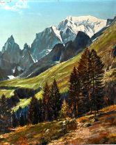 Lorenz sign., Alpenlandschaft / landscape