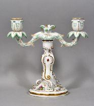 Leuchter, Meissen, 2-lichtig / candlestick