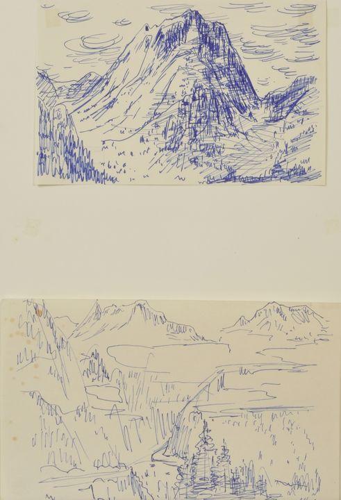 Mühlner , Zeichnungen / Mühlner, Drawings