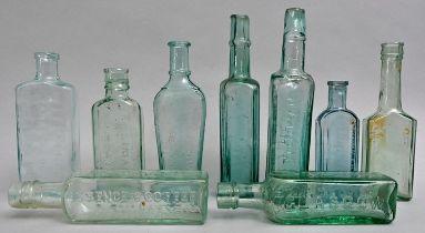 Konvolut von neun Flaschen / Set of nine bottles