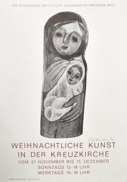 Dresdener Künstler, 2 Plakate / East German artists, two posters