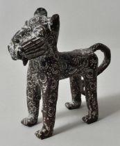 Benin. Leopard, Bronze