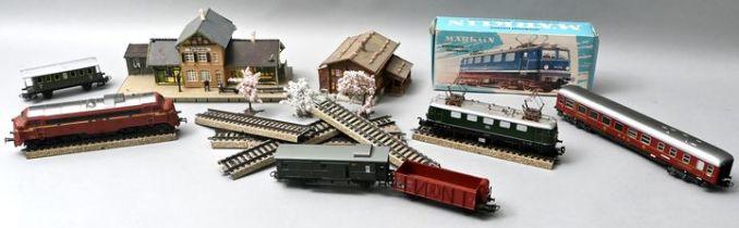 Großer Posten Eisenbahn H0, 2. H. 20. Jh. / lot of toy trains
