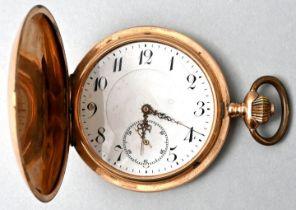 Goldene Herrentaschenuhr / pocket watch