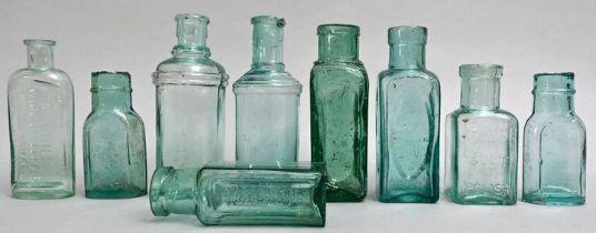 Konvolut neun Flaschen / Set of nine bottles