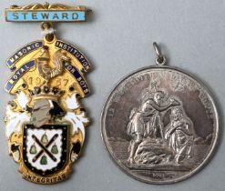 Tauftaler und Freimaurer-Abzeichen / medals