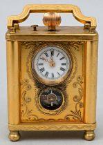 Mini Reiseuhr/ miniature eight-day-timepiece
