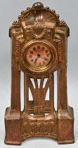 Tischuhr, Metall/ art nouveau mantel clock