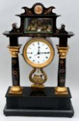 Stutzuhr, Musikwerk / Portal clock with music automat