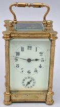 Reiseuhr skelettiertes Werk / Travel clock