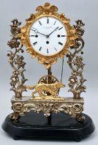 Stutzuhr mit Dom, Hund / Table clock