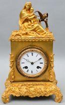 Pendule, Mutter mit Kind/ mantel clock