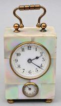 Reiseuhr, Perlmutt / Travel clock