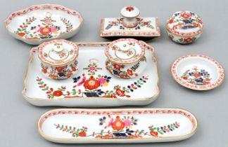 Schreibzeug, Meissen, um 1920/ writing utensils porcelain
