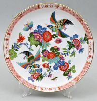 Wandteller Meissen, Teller Paradiesvogelmalerei/ wall plate Meissen