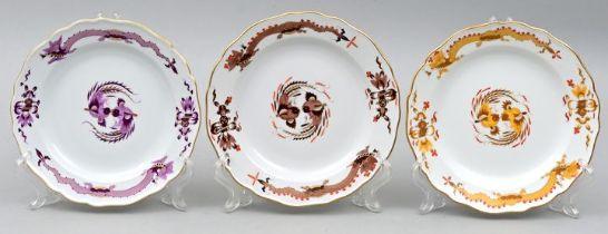 Drei Teller, Meissen / Three plates, Meissen