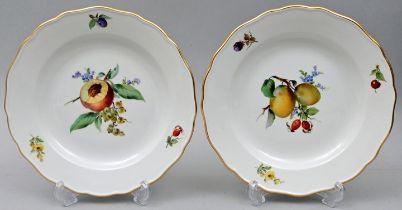Zwei Teller, Meissen / Two plates, Meissen