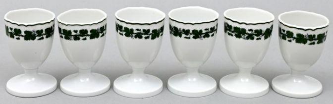 Sechs Eierbecher, Weinlaub, Meissen / Six egg cups, Meissen