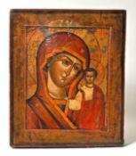Ikone, Holz, Madonna