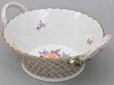 Korbschale, Meissen / Basket bowl, Meissne
