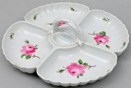 Cabarett, Meissen, rote Rose/ serving plate